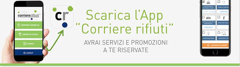 app ritiro e smaltimento rifiuti di Corriere Rifiuti